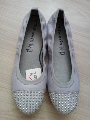 Tamaris Mary Jane Ballerinas light grey