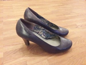 Tamaris Leder-Pumps, blau, Gr. 39