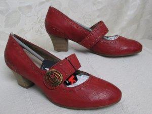 Tamaris Mary Jane Pumps dark red