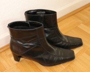 TAMARIS Leder-Stiefelette schwarz – Gr. 40 – Nur wenige Male getragen!