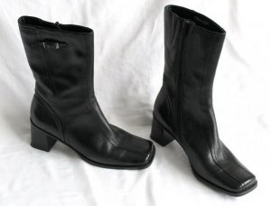 Tamaris Leder Stiefeletten schwarz