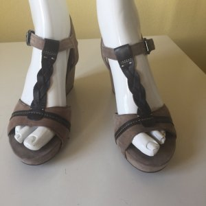 Tamaris Wedge Sandals light brown leather