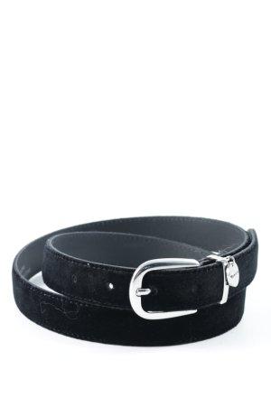 Tamaris Ledergürtel schwarz-silberfarben minimalistischer Stil