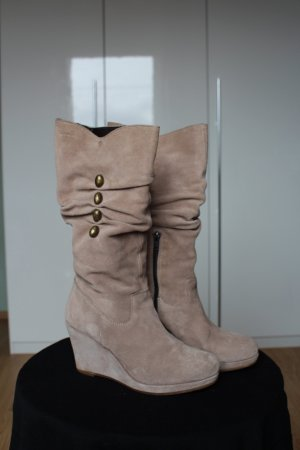 Tamaris Slouch Boots multicolored suede