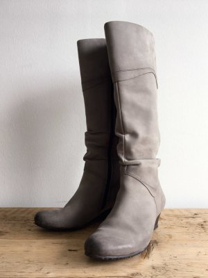 Tamaris Platform Boots light grey leather