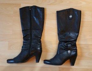 Tamaris Lederstiefel schwarz Gr. 40