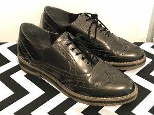 Tamaris Loafersr Gr.40 Schuhe schwarz Budapester