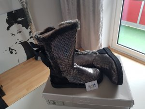 Tamaris Snow Boots black-silver-colored