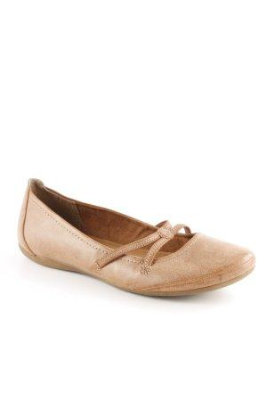 Tamaris Ballerina Mary Jane cognac stile semplice
