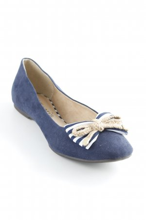 Tamaris Mary Jane Ballerinas Streifenmuster Marine-Look
