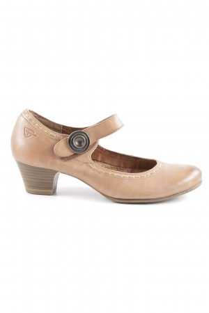 Tamaris Mary Jane Pumps camel casual look