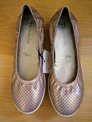 Tamaris Patent Leather Ballerinas dusky pink imitation leather