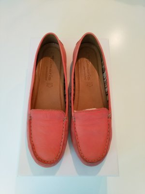 Tamaris Moccasins pink-bright red leather