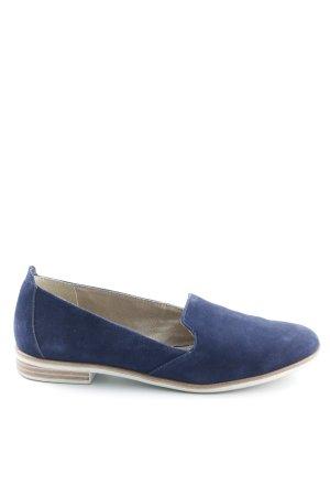 Tamaris Mocassins bleu foncé style simple