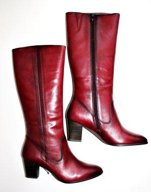 Tamaris Neu Rot weinrot Stiefel* 100 % Leder * 41