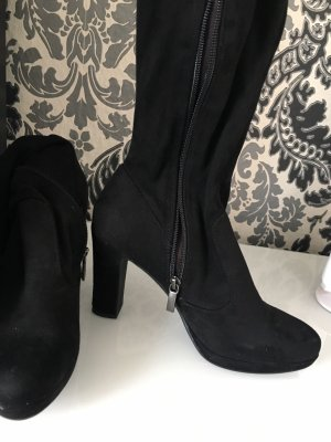 Tamaris Stivale cuissard nero Fibra tessile