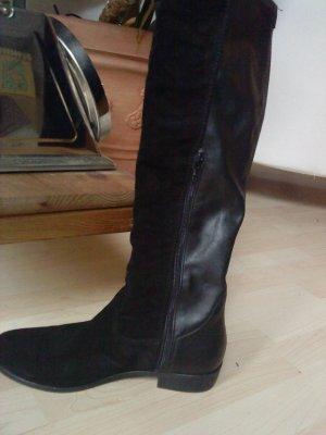 Tamaris Overknee-Stiefel schwarz Größe 40 Wildleder