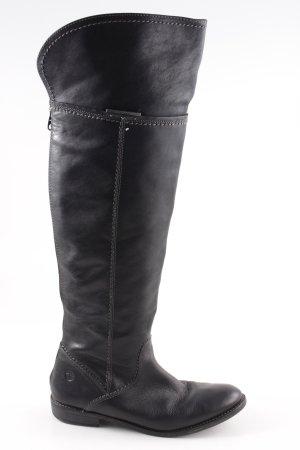 Tamaris Stivale cuissard nero stile casual