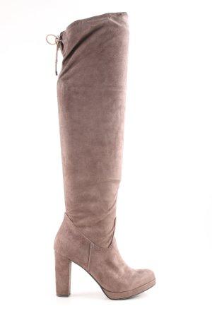 Tamaris Overknees brown extravagant style