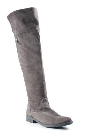 Tamaris Kniehoge laarzen grijs-bruin klassieke stijl