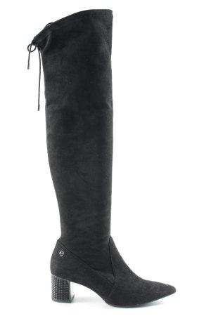 Tamaris Stivale cuissard nero stile stravagante