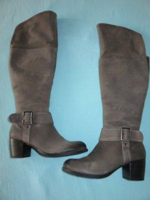 Tamaris Heel Boots grey-dark grey leather