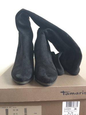 Tamaris Overkneestiefel in schwarz