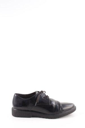 Tamaris Zapatos estilo Oxford negro estilo «business»