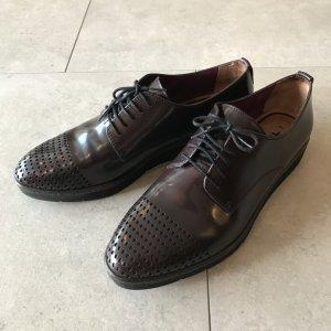 Tamaris Zapatos estilo Oxford rojo amarronado-marrón oscuro