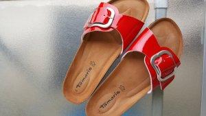 Birkenstock Heel Pantolettes red