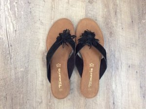 Tamaris Mules black-beige leather