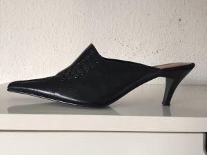 Tamaris Pantoletten Gr. 37 Schwarz schwarze spitz spitze echtes Leder Pumps