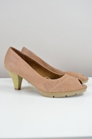 Tamaris Peep-Toes Echtleder creme Größe 38