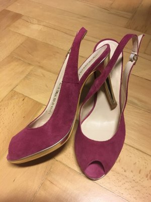 Tamaris Peep Toe Pumps magenta