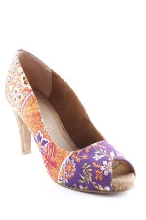 Tamaris Peeptoe Pumps florales Muster extravaganter Stil