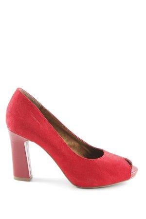 Tamaris Tacones con punta abierta rojo elegante