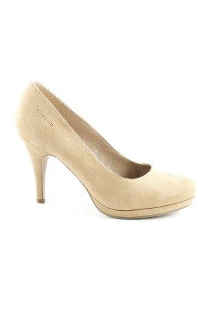 Tamaris Tacones con plataforma beige elegante