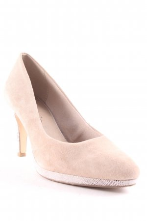 Tamaris Plateau-Pumps beige-silberfarben Metallic-Optik