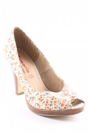 Tamaris Plateauzool pumps bloemenprint casual uitstraling