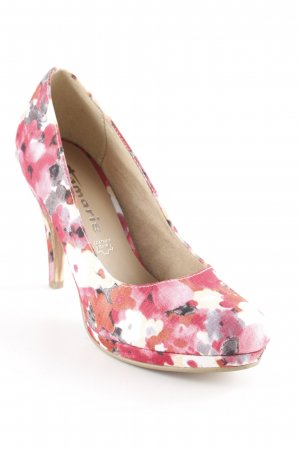 Tamaris Plateau-Pumps Blumenmuster Romantik-Look
