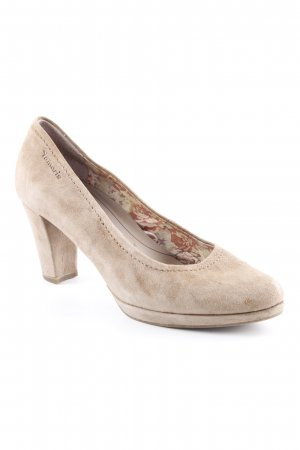 Tamaris Plateau-Pumps camel Casual-Look
