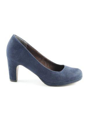 Tamaris Tacones con plataforma azul oscuro elegante