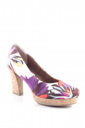 Tamaris Plateau-Pumps florales Muster Street-Fashion-Look
