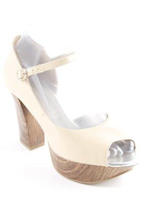 Tamaris Tacones con plataforma beige claro-beige elegante