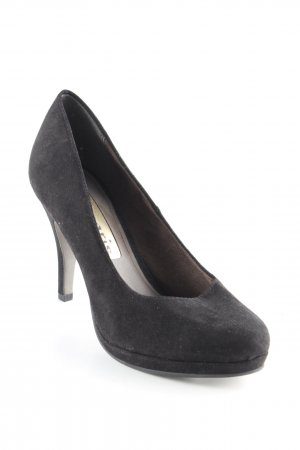 Tamaris Plateau-Pumps schwarz Business-Look