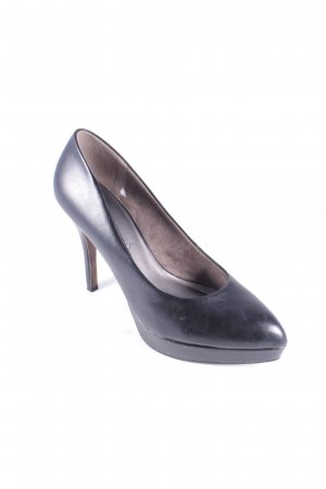 Tamaris Plateau-Pumps schwarz Casual-Look