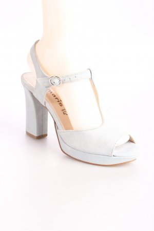 Tamaris Plateau-Sandaletten babyblau Party-Look