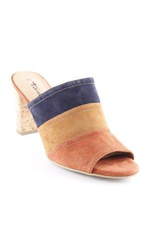 Tamaris Platform High-Heeled Sandal striped pattern retro look