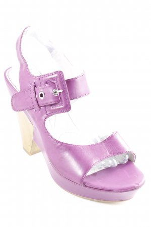 Tamaris Platform High-Heeled Sandal violet-sand brown elegant