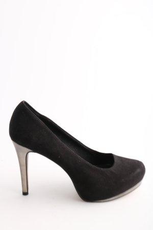 Tamaris Pumps schwarz-creme Elegant